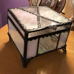 Glass Jewelry/Keepsake Box